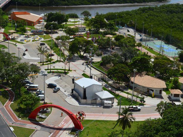 Parque dos Cajueiros em Aracaju (Foto: Flávio Antunes/G1 SE)