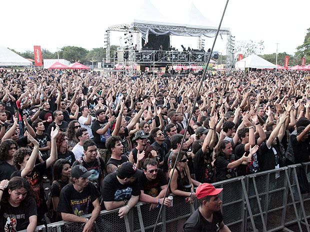 Público Metal Open Air (Foto: De Jesus/G1)
