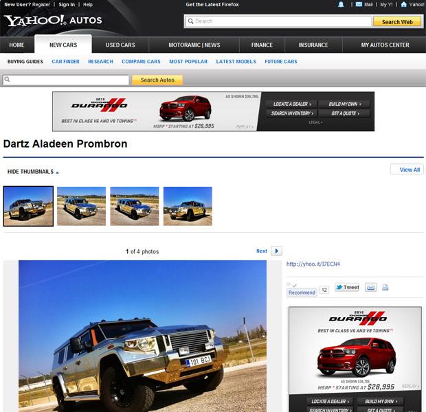 dartz prombom aladeem (Foto: Reprodução/Yahoo Autos)