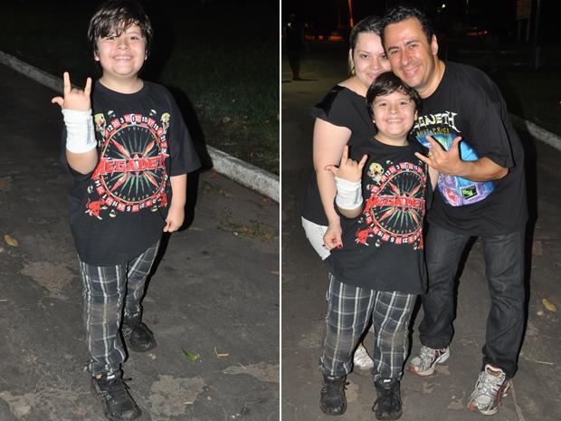 Garoto vai ao show do Megadeth (Foto: Alex Trinta)