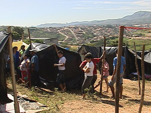 Invasão na Região do Barreiro, em Belo Horizonte. (Foto: Reprodução/TV Globo)