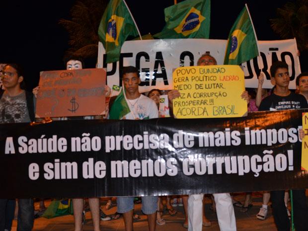 marcha corrupção 2 (Foto: Walter Paparazzo/G1)