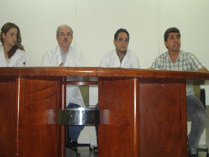 Equipe médica - Pedro (Foto: Carolina Simiema/ G1)