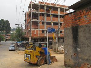 Condominio Iguaçu, na Roberto Marinho, que deve receber moradores de favelas próximas (Foto: Roney Domingos/ G1)