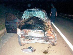 Acidente causa mortes de mãe e filha em Lagoa Vermelha, RS, diz PRF (Foto: Divulgação/PRF)