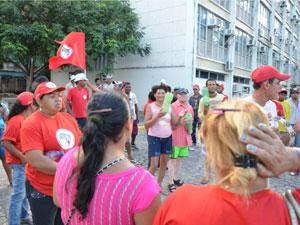 MST ocupa Centro Administrativo da Paraíba (Foto: Walter Paparazzo/G1)