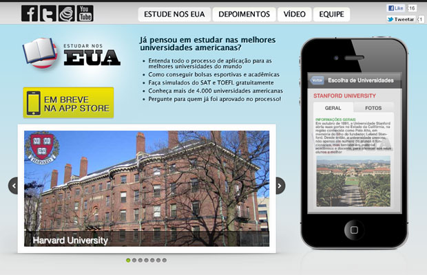 Site mostra os caminhos de como estudar nos Estados Unidos (Foto: Reprodução)