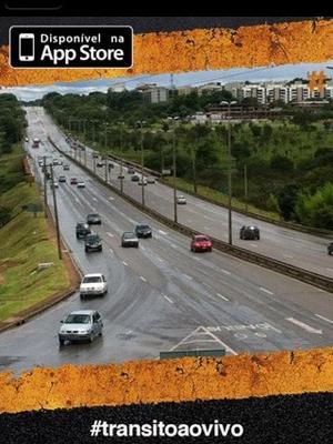 Aplicativo gratuito monitora em tempo seis áreas de tráfego intenso no DF, como o final do Eixão Norte  (Foto: Reprodução)