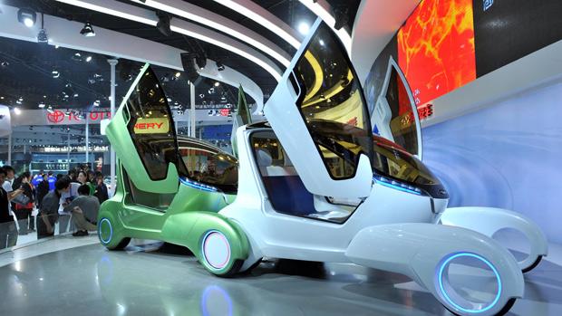 Chinesa Chery mostra protótipos no Salão de Pequim (Foto: AFP)