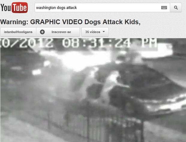 Câmera de segurança filmou momento do ataque (Foto: Reprodução/Youtube)