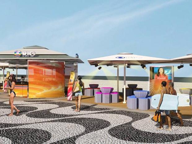 Com 1,6 mil metros quadrados, deck poderá se transformar em um auditório (Foto: Divulgação / Globo Rio)