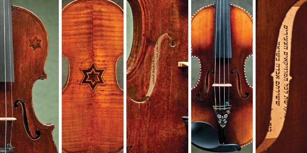Os violinos da coleção de Amnon (Foto: Ziv Shenhav)