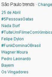 Trending Topics em SP às (Foto: Reprodução)