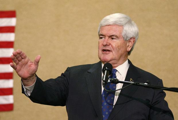 Newt Gingrich gesticula durante discurso na Carolina do Norte na terça-feira (24) (Foto: Chris Keane/Reuters)