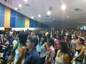 Aula magna foi realizada no auditório da Uneb nesta quarta-feira (25). (Foto: Egi Santana/G1)