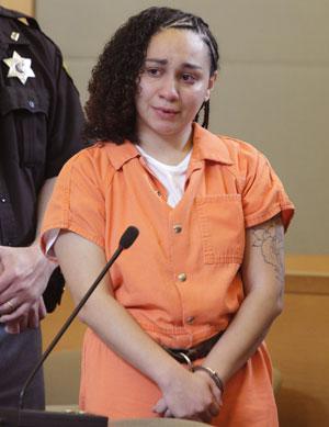 Jessica Vega chora diante da corte em Goshen, Nova York, nesta quarta (25) (Foto: AP/Tom Bushey/Times Herald-Record)