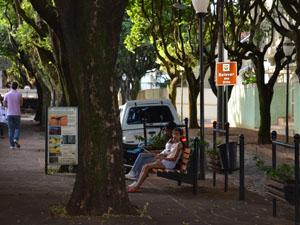 Bulevar em Araraquar foi reformado em 2007 (Foto: Felipe Turioni/G1)
