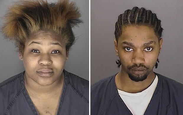 Mattie McCann e Matthew McIntosh se declararam culpados de negligência nos cuidados da filha (Foto: AP/Polícia de Oakland)