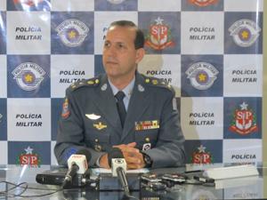 Novo comandante da PM (Foto: Letícia Macedo / G1)