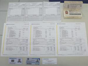 Estelionatário apresentava documentos falsos (Foto: Divulgação / Polícia Civil)