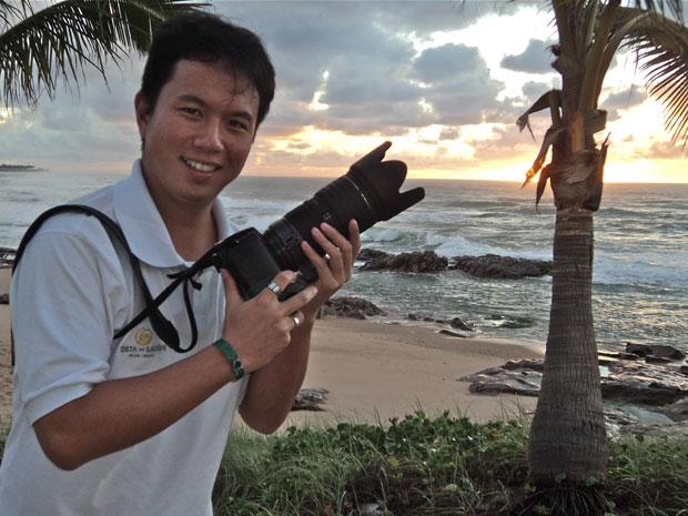 Guilherme Missumi cuida da análise de mídias sociais na Costa do Sauípe (Foto: Arquivo pessoal)