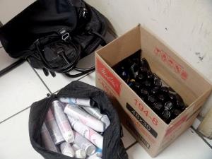 Suspeitos já tinham furtado desodorantes em outros dois supermercados (Foto: Nikolas Capp/ G1)