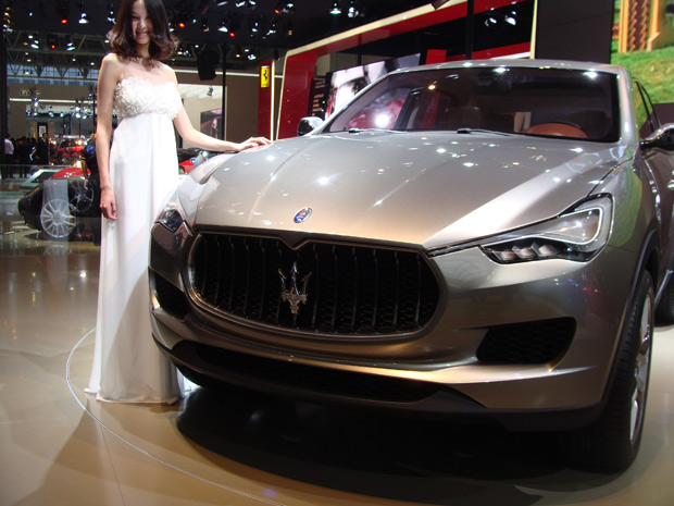 Maserati levou o Kubang ao Salão de Pequim; SUV de luxo será lançado em 2013 (Foto: Paula Ramón/G1)