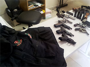 Polícia recupera parte de armas e coletes furtados do 4º Distrito Policial de Sumaré (Foto: Tiago Gonçalves/ G1Campians)