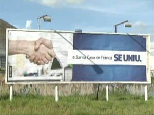 Hospital lança campanha para sair do vermelho em Franca. (Foto: Reprodução/EPTV)