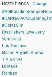 Trending Topics no Brasil às 17h32 (Foto: Reprodução)