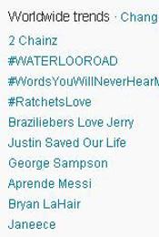 Trending Topics no Mundo, 17h11 (Foto: Reprodução)
