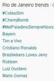 Trending Topics no Rio às 17h16 (Foto: Reprodução)