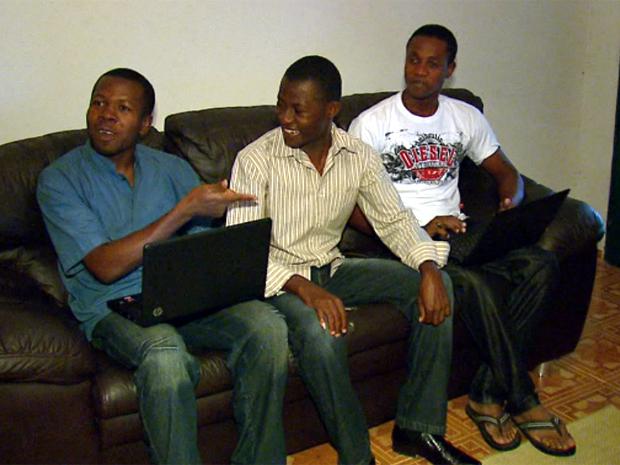 Universitários do Haiti dividem a mesma casa em São Carlos (Foto: Reprodução/EPTV)
