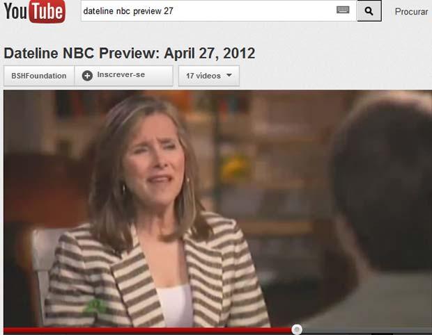 O garoto Sean Goldman é entrevistado na chamada do programa 'Dateline NBC' (Foto: Reprodução de vídeo)