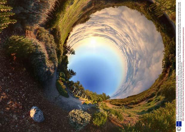 Fotógrafo americano cria paisagens surreais com 'colagens' em 360 graus (Foto: Randy Scott Slavin/Rex Features)