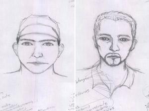 Retrato falado suspeitos de chacina no Triângulo. (Foto: Divulgação/Polícia Civil)