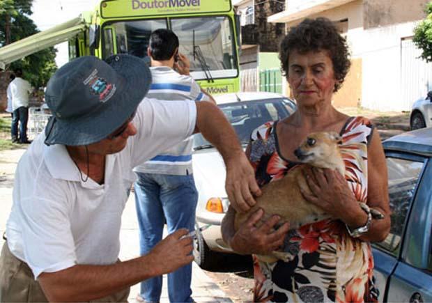 Vacina antirrábica será aplicada em animais de condomínios de Ribeirão (Foto: Divulgação Prefeitura)