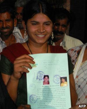 A indiana Laxmi Sargara (Foto: AFP)