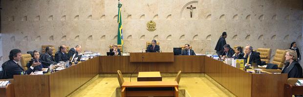 Plenário do Supremo durante julgamento das cotas em universidades (Foto: Nelson Jr. / SCO / STF)