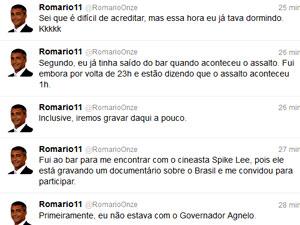 Romário, twitter, assalto (Foto: Reprodução/Twitter)