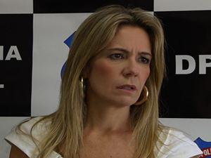 Delegada Myrian Vidal, de Aparecida de Goiânia (Foto: Reprodução/TV Anhanguera)