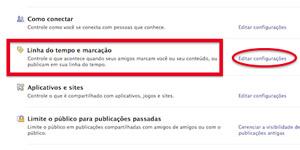 tela facebook configurações (Foto: Reprodução)