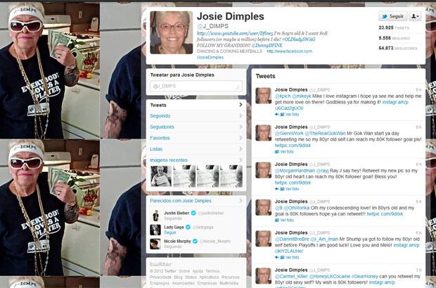 Josie Dimples quer ter 80 mil seguidores antes de morrer (Foto: Reprodução)