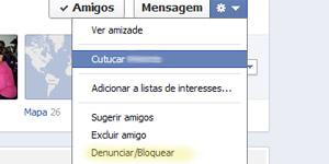 tela facebook denunciar bloquear (Foto: Reprodução)