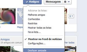 tela facebook desfazer amizade (Foto: Reprodução)