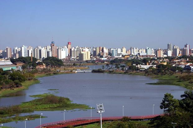 Vista geral da represa municipal (Foto: Divulgação / Prefeitura de Rio Preto)