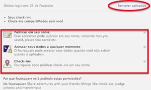tela facebook check-in (Foto: Reprodução)