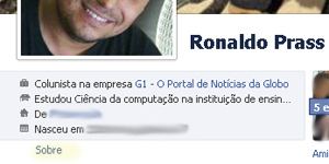 tela facebook status (Foto: Reprodução)