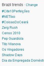 Trending Topics no Brasil às 12h01 (Foto: Reprodução)
