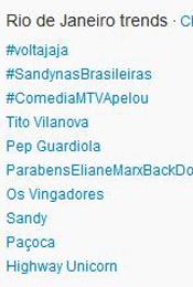 Trending Topics no Rio às 12h05 (Foto: Reprodução)